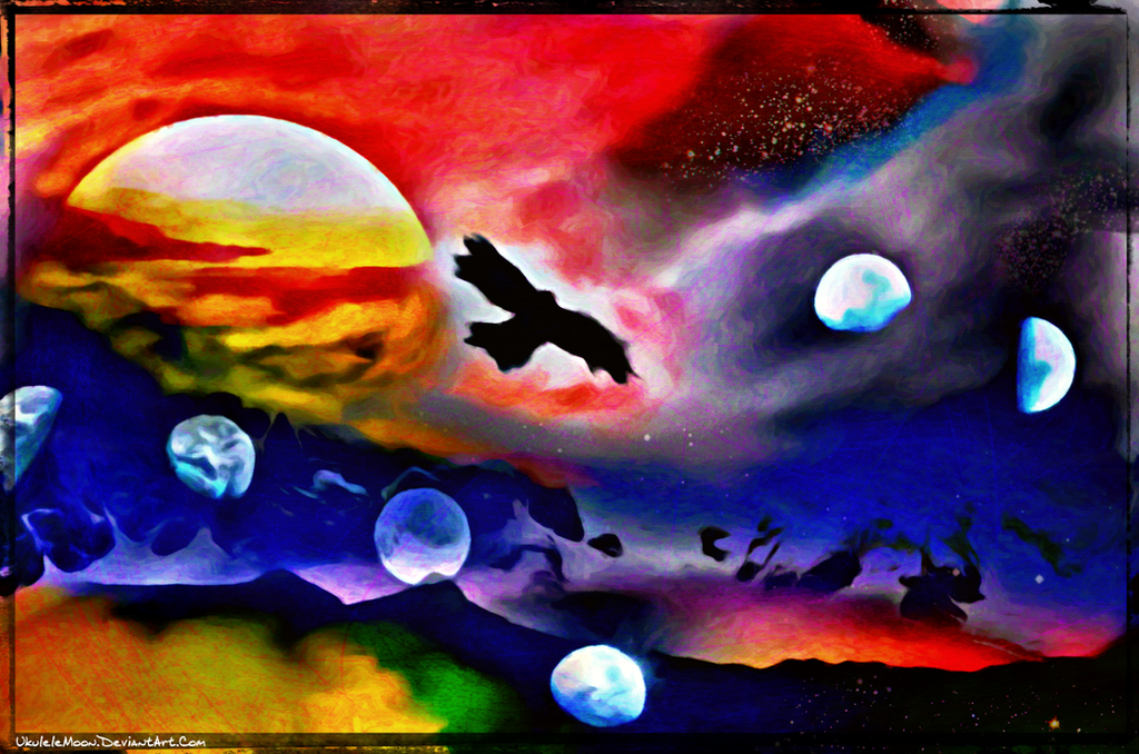 Digital Painting: Over the Moon by UkuleleMoon