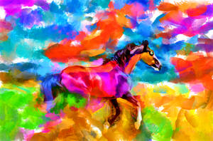 Digital Painting: Miracle Mile by UkuleleMoon