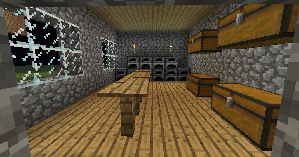Minecraft big house kitchen by shacbellic on deviantart for Kitchen ideas on minecraft