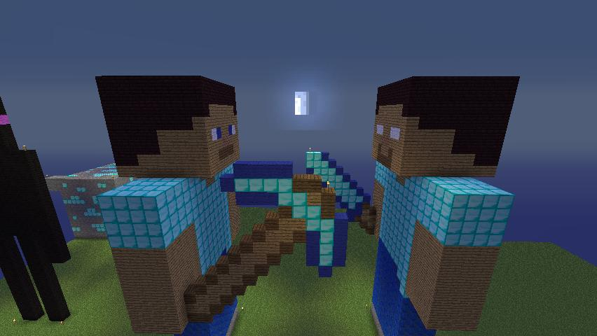 Minecraft Herobrine Vs Steve Steve v/s herobrine by
