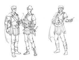 Night Watch Cast: Vimes and Carcer Sketches by plangkye