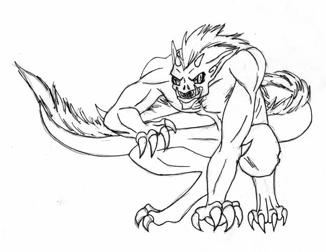 Beowulf - BEOWULF |Beowulf Fighting Grendel Drawing