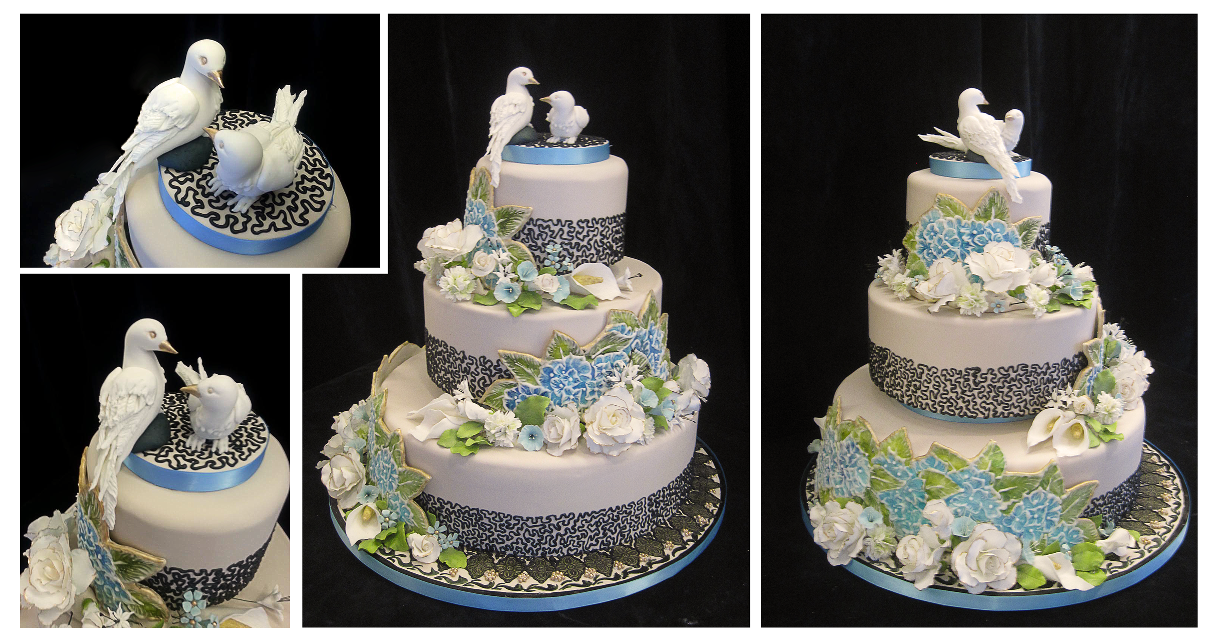 where can i buy a wedding cake hydrangeas and doves wedding cake by plangkye on deviantart 27133
