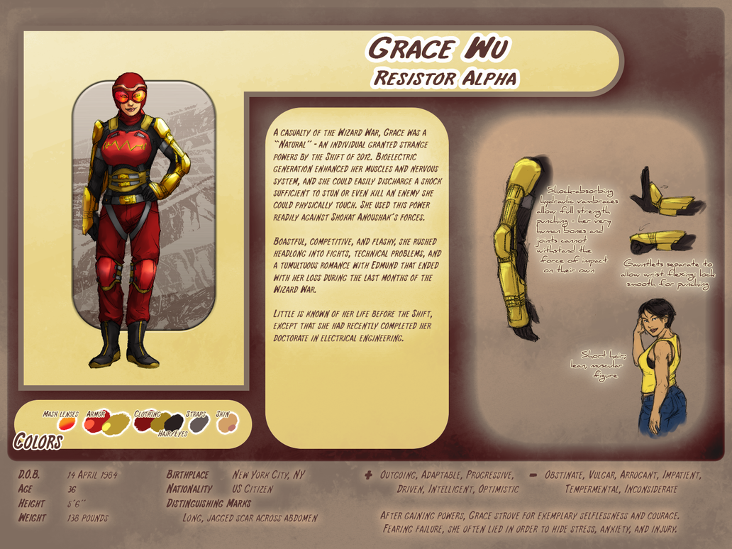 Character Profile: Grace Wu by plangkye