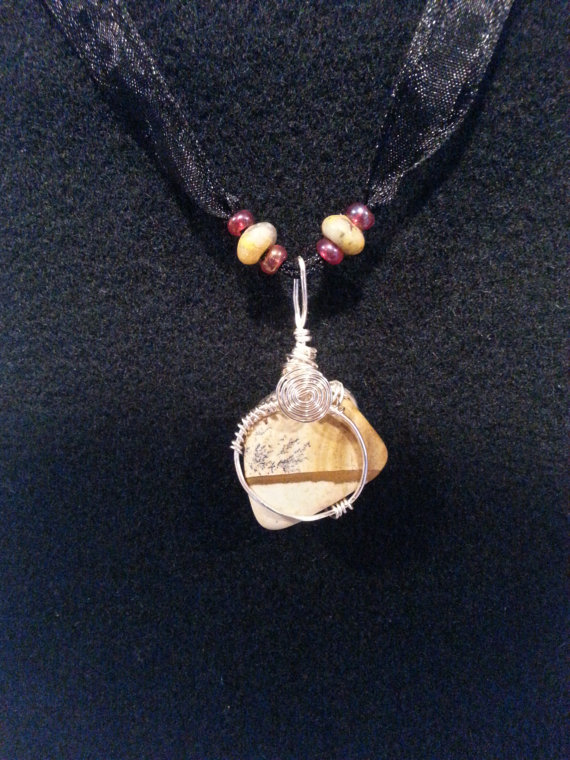 Wire Wrapped Picture Jasper Pendant by plangkye