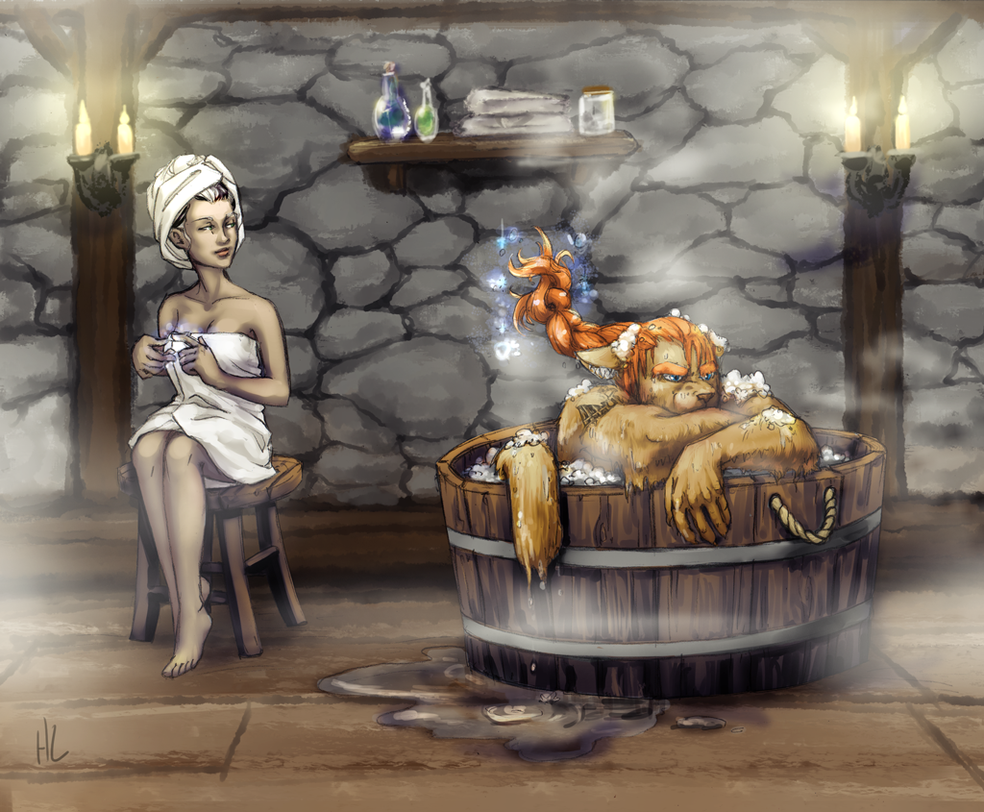 Commission: Zeria Bathtime by plangkye