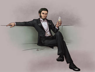 Champagne and White Tie