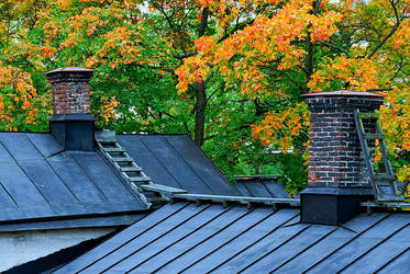 Autumn roofs by eswendel