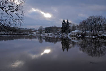 Winter day at river