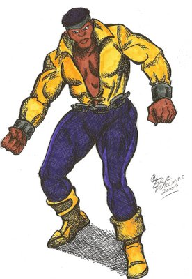 classic Luke Cage by roguebrother