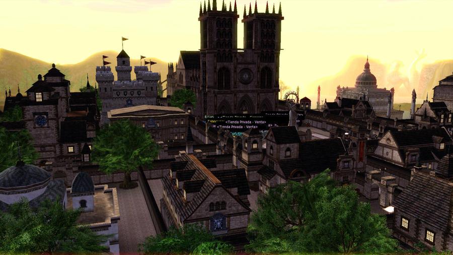Giran Castle from sky by DarkHorses90