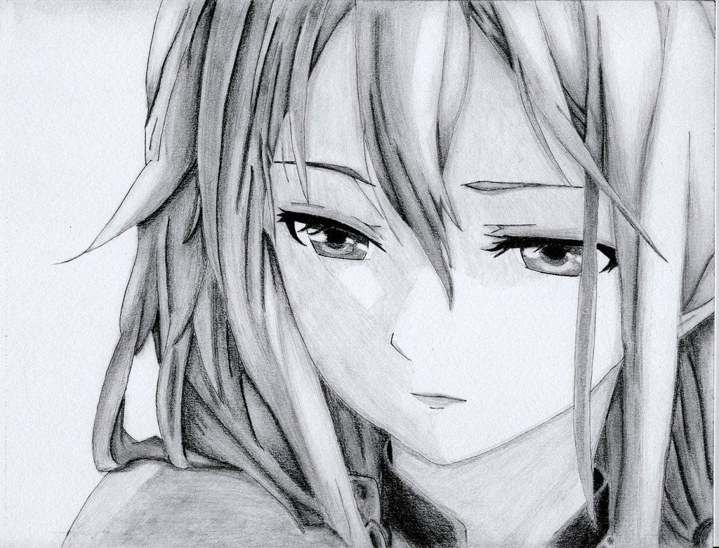 Sad Anime Drawings In Pencil