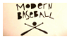 Modern Baseball Stamp by Abbadoo02