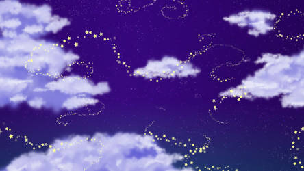 Cloudy Stars Wallpaper