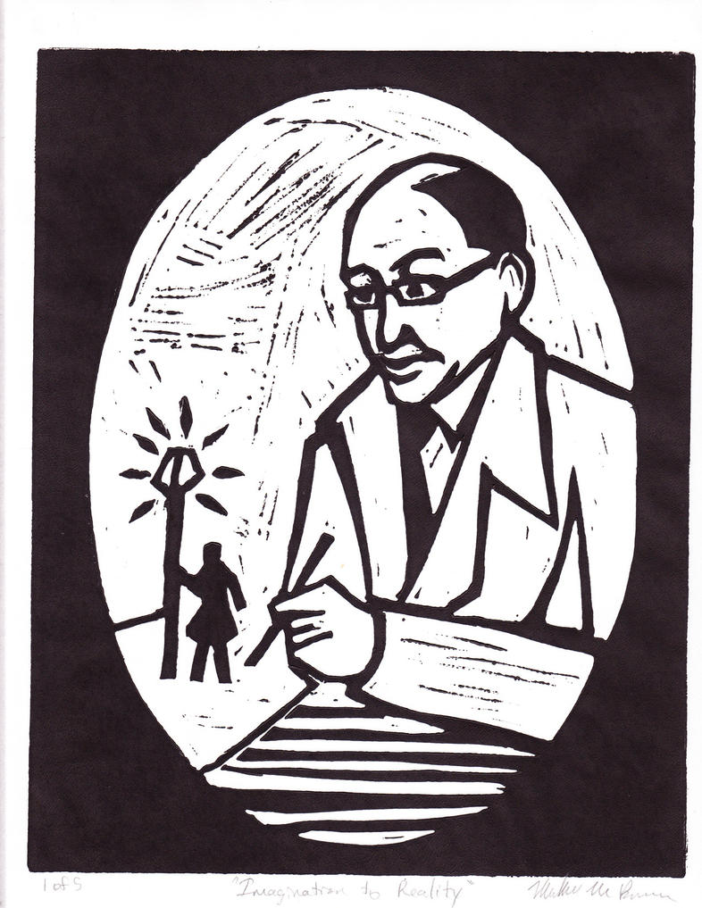 Birder Hall commission - C.S. Lewis by Mir-Leixon