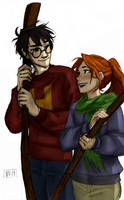 From Burdge's Tumblr: Harry and Ginny by youowemeasoda