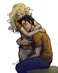 From Burdge's tumblr: Percy and Annabeth Older by youowemeasoda