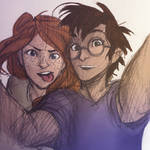 From Burdge's Tumblr: Hey Gin! Let's take a selfie