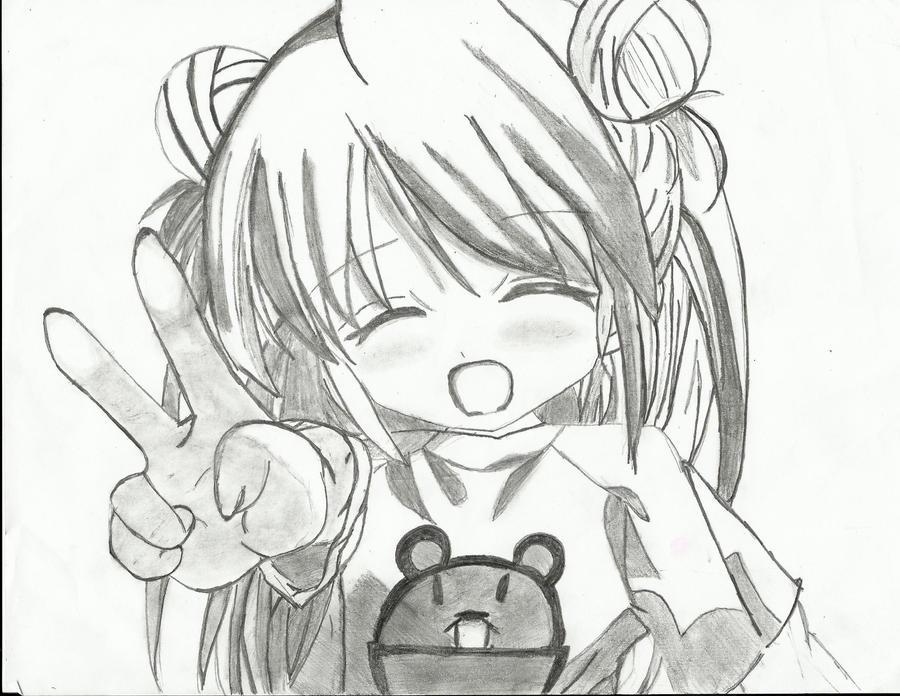 Cute anime girl by lalaesha