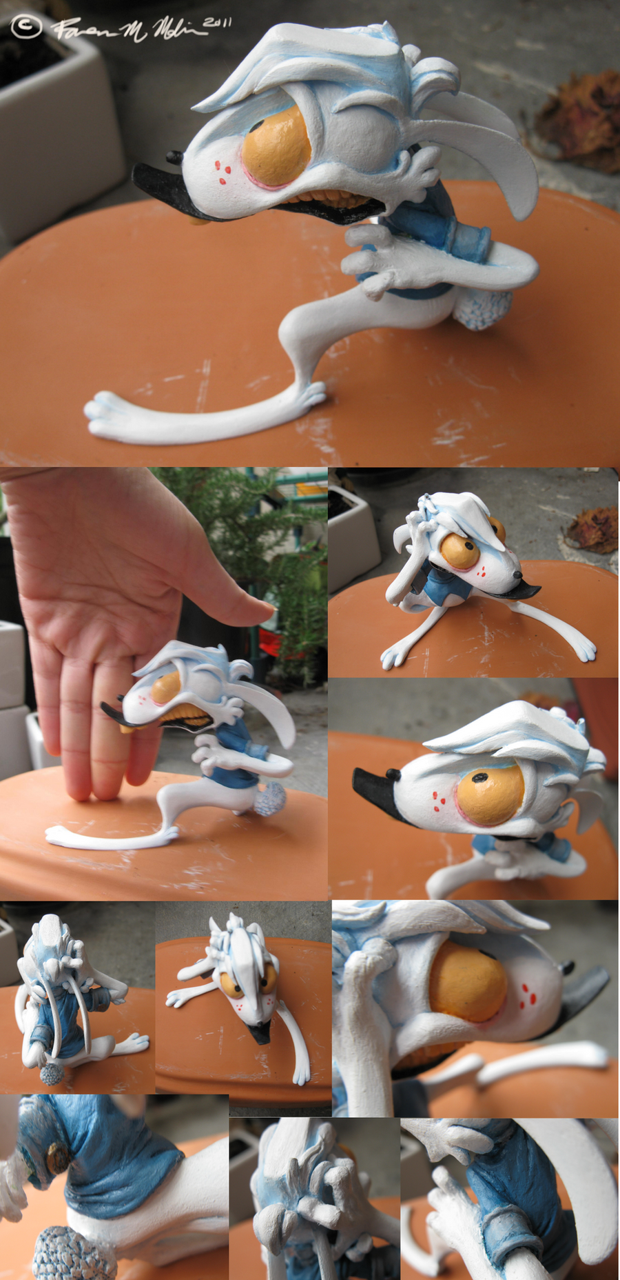 Painted Peetrick Sculpture by Raveneesimo