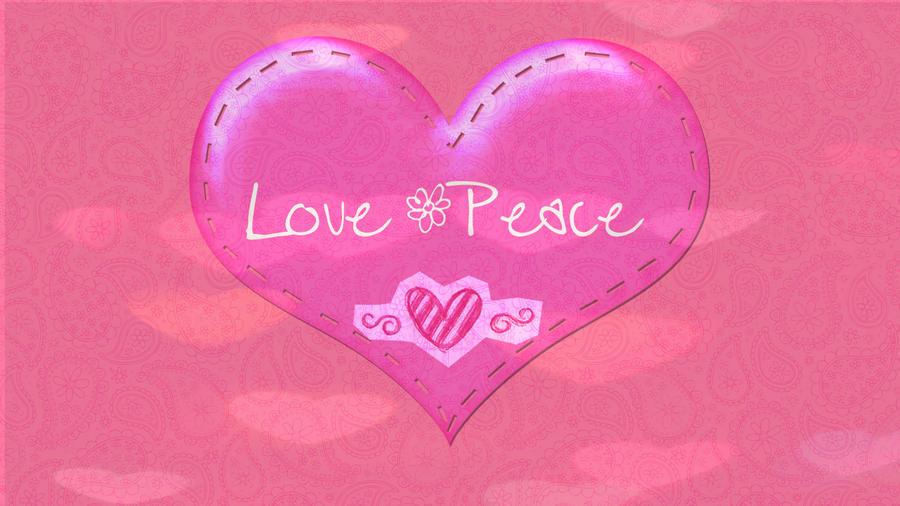 Love Wallpapers Er : Wallpaper Peace Love by NaashiBelieber on DeviantArt