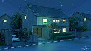 Anime house/street view