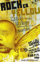 rock in yellow poster
