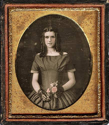 Portrait Tintype of Emma Watson