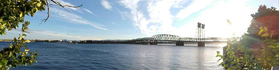 I-5 bridge from the Waterfront by Shutterbug0629