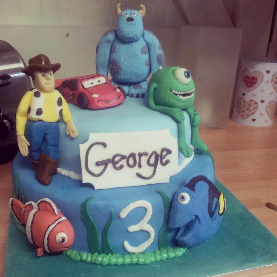 Disney Pixar Cake By Adaberry On Deviantart