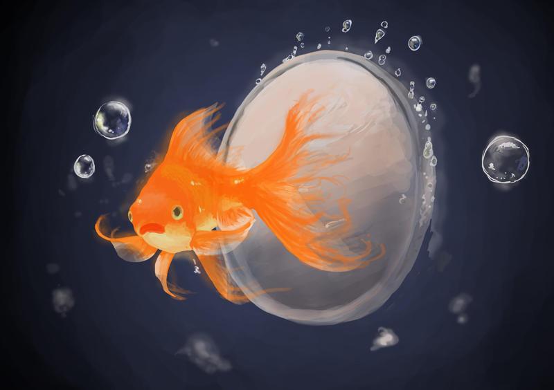 Silver Fish by jennyraepip