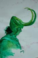 Watercolour King... by jennyraepip