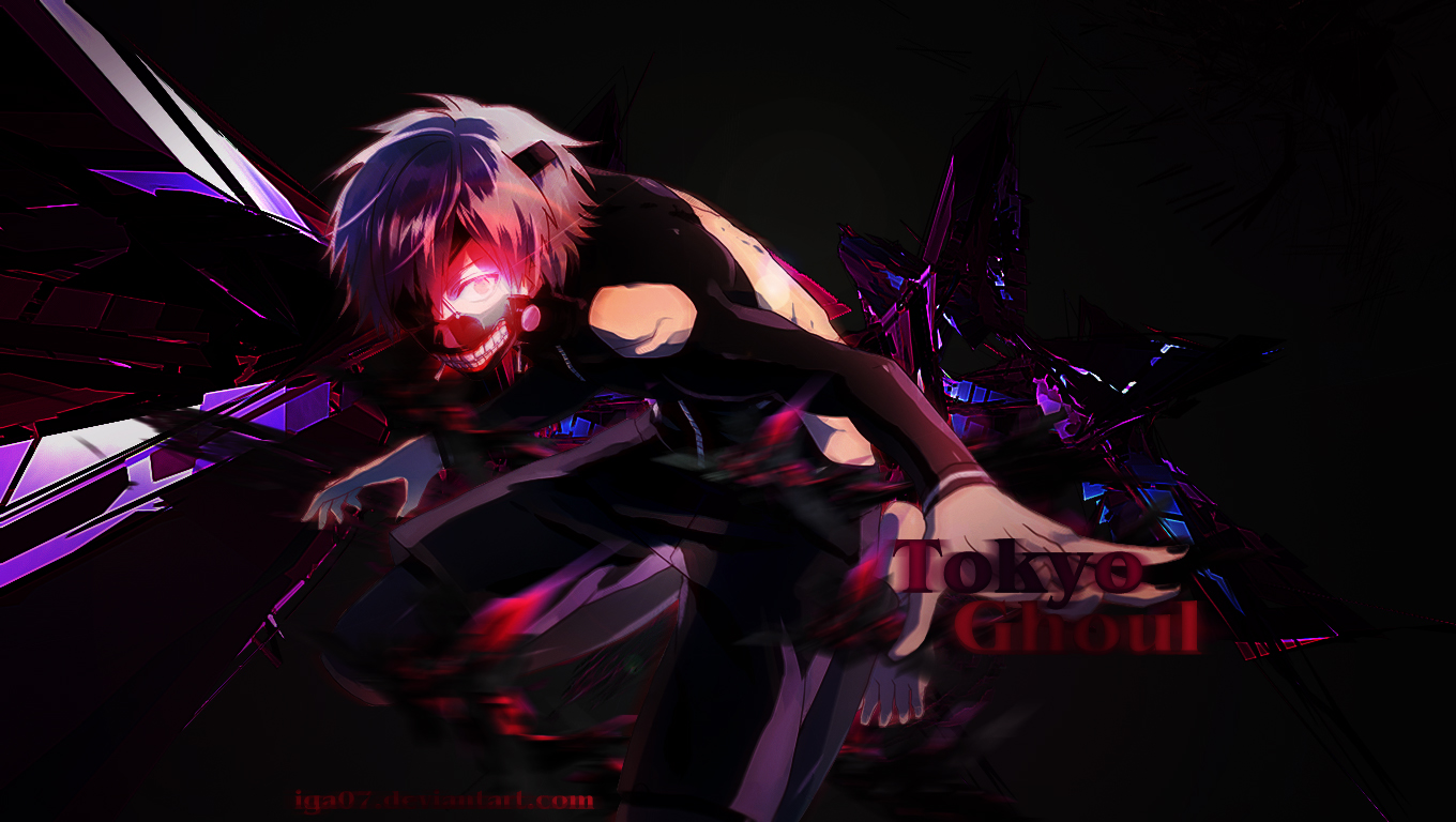 Wallpaper Tokyo Ghoul 1360x768 By Iga07 On Deviantart