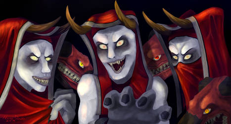 Cultists from Alkarnus- Diablo 3 (speedpaint) by HighSoulInHumanFlesh