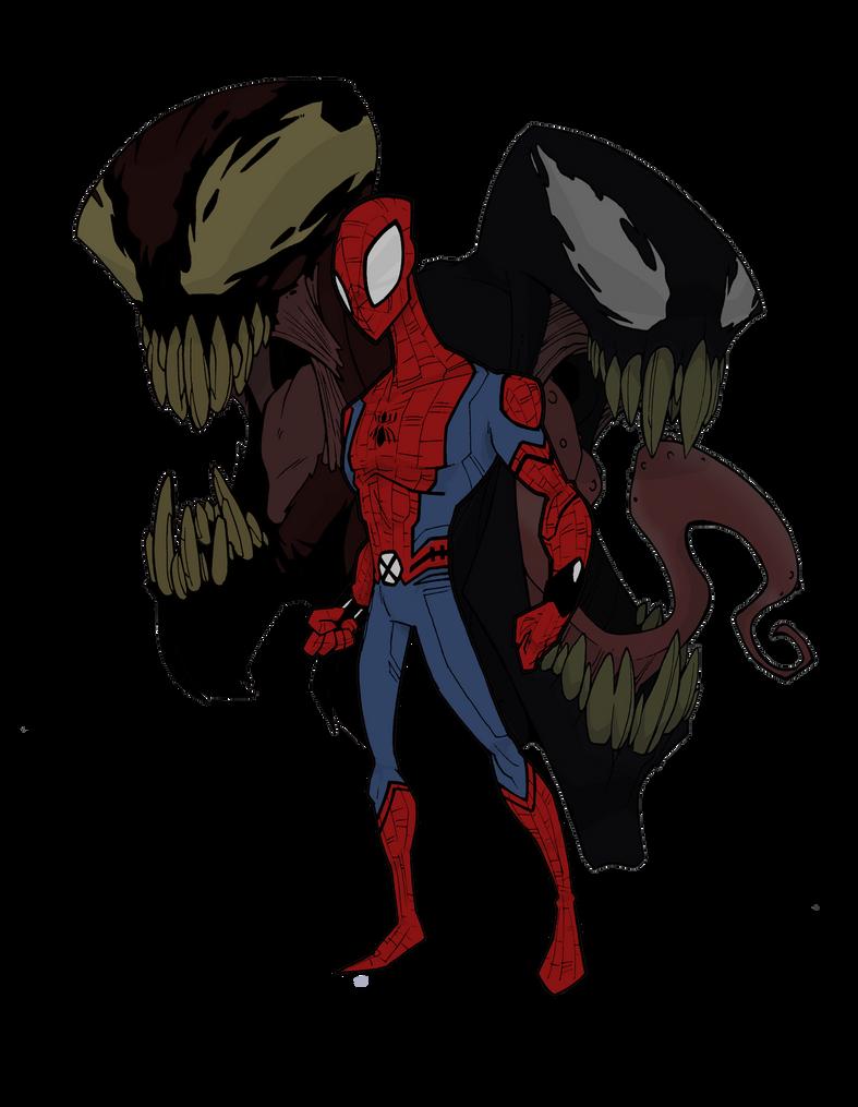 spider vs carnage vs venom by mrgreenlight on deviantart