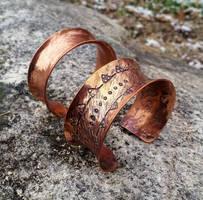 Copper Cuff Bracelets by TheMattchu