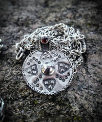 Viking Bracteate Pendant and loop in loop chain. by TheMattchu