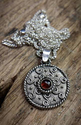 Silver Pendant With Garnet.  by TheMattchu