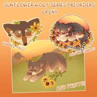 sunflower wolf merch preorder!