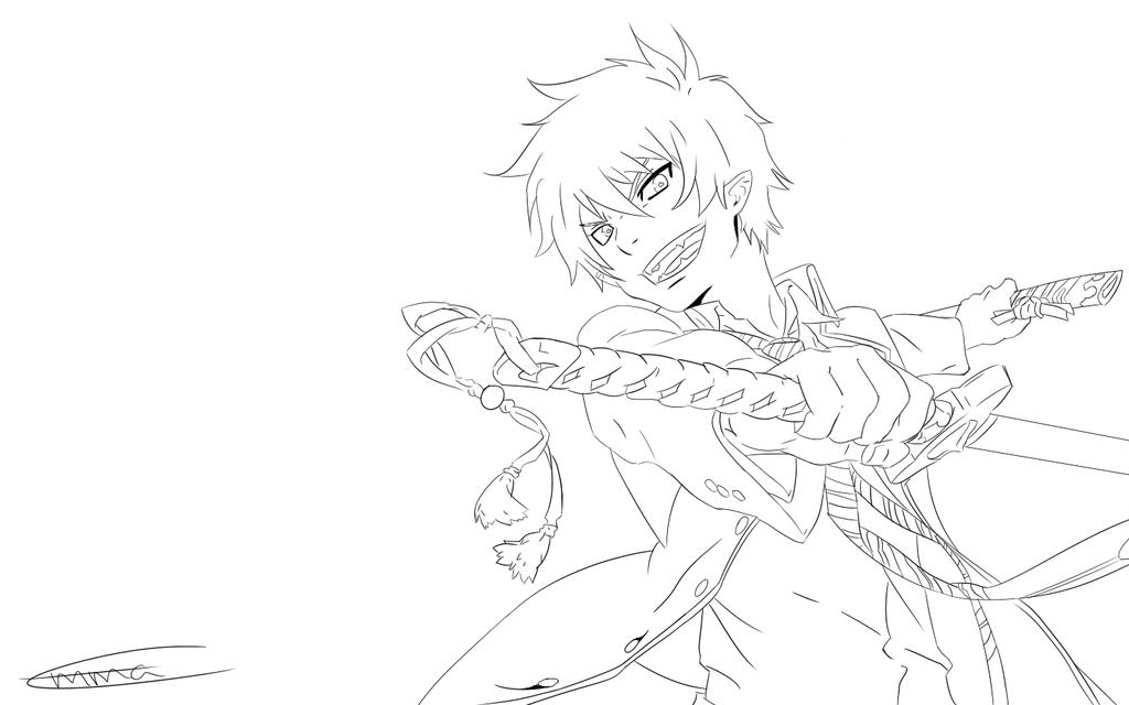ao no exorcist on manga line deviantart Vampire Knight Coloring Pages Yukio Blue Exorcist Coloring Pages