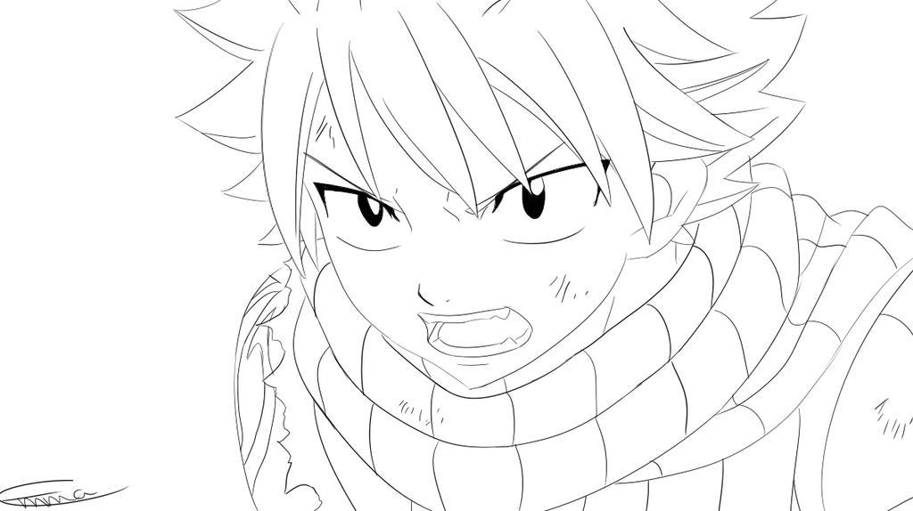 Natsu Dragneel Fairy Tail Lineart By Kurinka206693 On