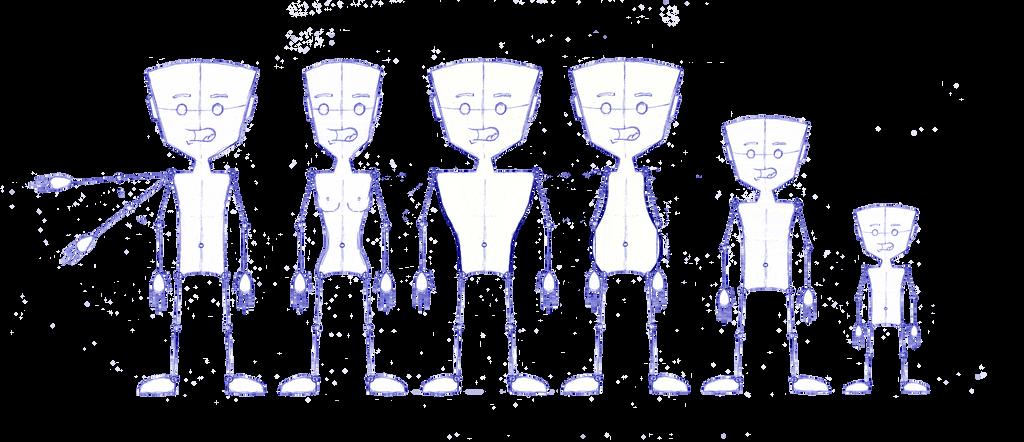 Character Design Lineup : Character design lineup by dalekaled on deviantart
