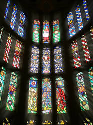 Hampton Court Stained Glass by bullispace