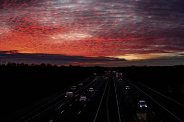 Fire in the sky over the M3