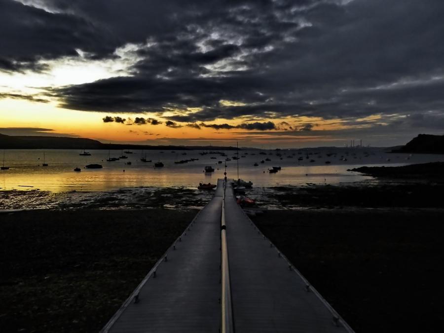 Morning jetty in Dale by bullispace