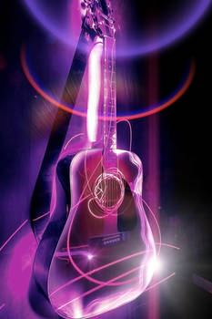 Ultraviolet Acoustic Guitar