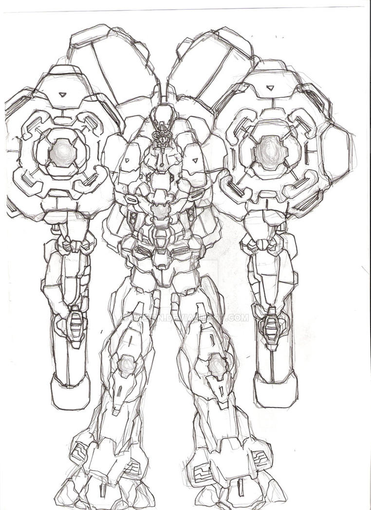 The Ultimate Mecha-Lineart by Zveirn