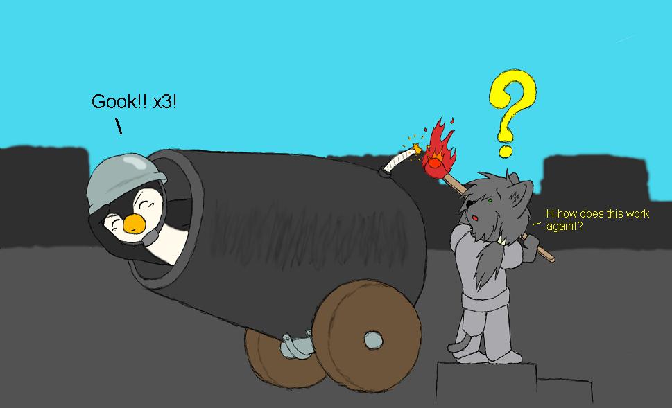 More Penguin Cannon by MindOfGenius