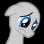 Sad Pony Base (colt/stallion) by TravisPony