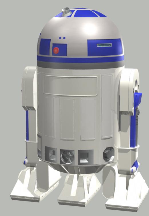 R2d2 Back R2D2 back by R-Tillery...